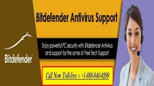 Dial: +1-888-840-8298 Bitdefender Customer support number – Best Support