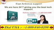 Dial :- ESET  +1-888-840-8298  Tech Support phone number – Best Service