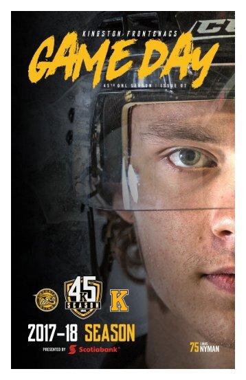 Kingston Frontenacs GameDay November 3, 2017