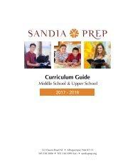 Sandia Prep Curriculum Guide 2017-2018