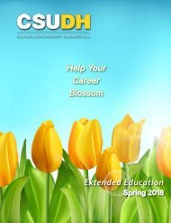 Spring 2018 CSUDH Extended Education Catalog
