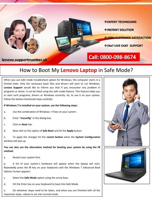 How to Boot My Lenovo Laptop in Safe Mode?