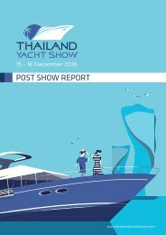 Thailand Yacht Show 2016 Post Show Report