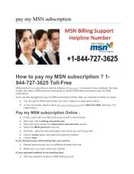 How to renew msn premium subscription ? 1-844-727-3625 Toll-Free