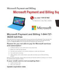 Microsoft billing and support Call toll free 1-844-727-3625