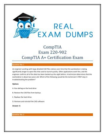 Download Real CompTIA 220-902 Exam Question Answer - 220-902 Real Braindumsps