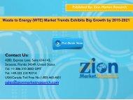 Global Waste to Energy (WTE) Market, 2015-2021
