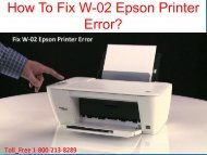 How To Fix W-02 Epson Printer Error