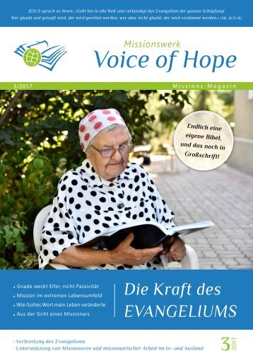 Voice of Hope Magazin 3-2017