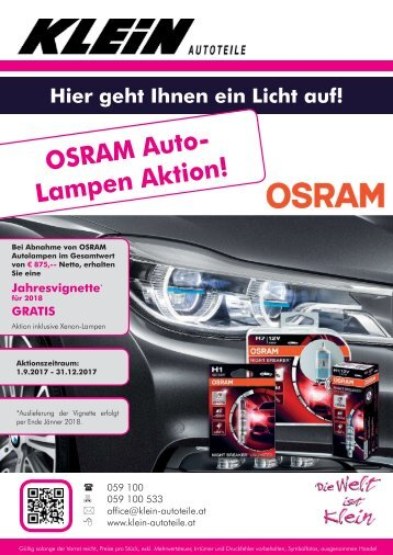 Flyer Osram Aktion
