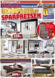 Wohnflair zu Sparpreisen - Kranepuhls optimale Möbelmärkte - günstig Möbel kaufen