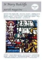 St Mary Redcliffe Church Parish Magazine - November 2017