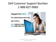 Dell Support | Dell Customer Support Number 1-888-827-9060