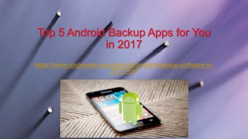 Top 5 Android Backup Software in 2017