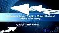 3D Exterior Design Studio | 3D Architectural Exterior Rendering