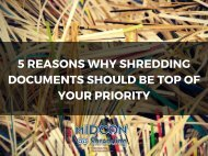 5 reasons why shredding documents should be top of your priority