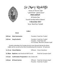 St Mary Redcliffe Pew Leaflet - November 5 2017