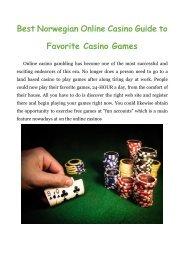 Best Norwegian Online Casino Guide to Favorite Casino Games