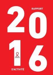 Rapport d'activité - Sidaction 2016