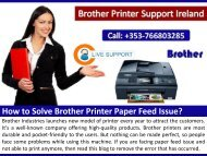 How to Solve Brother Printer Paper FeedIssue