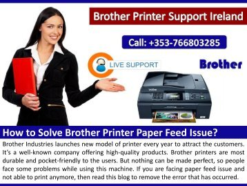 How to Solve Brother Printer Paper Feed Issue