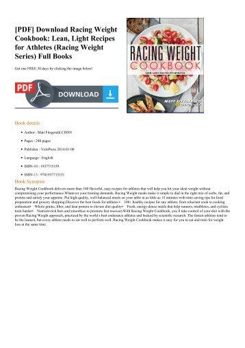 Racing-Weight-Cookbook-Lean-