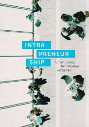 Intrapreneurship - Further training for innovative companies