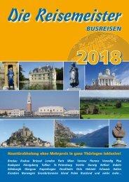 Die Reisemeister Erfurt - Katalog 2018