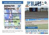 Blues News 244, Heimspiel gegen SVG Mayrhofen