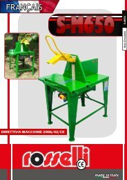 Scie circulaire avec moteur electrique 220V pour bois - Rosselli Snc