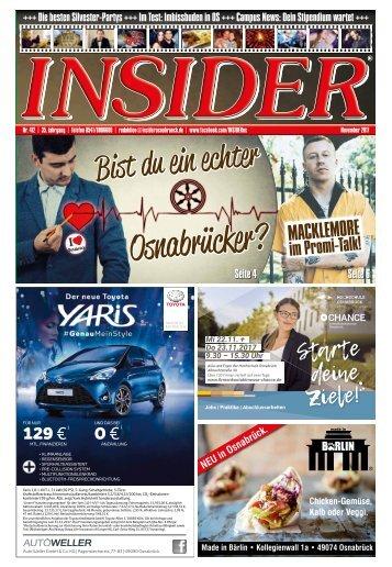 INSIDER Osnabrück // November 2017 // No. 412