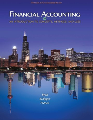 Financial Accounting An Introduction to Concepts, Methods, and Uses, 14e