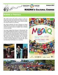 MAGMA Newsletter - Summer 2017