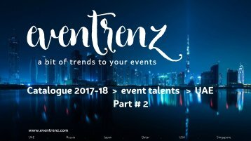 Eventrenz Talent Catalogue UAE Part#2