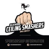 ceiling smashers sponsorship