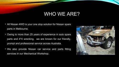 Nissan Car Service in Melbourne - All Nissan 4WD