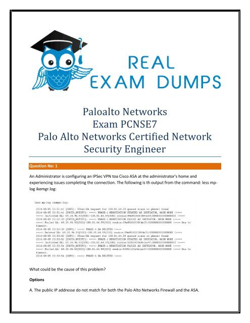 Palo-Alto-Networks PCNSE7 Exam Study Material - Palo-Alto