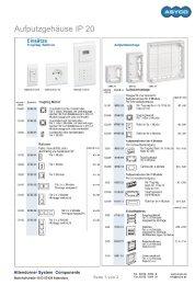 Aufputzgehäuse IP 20