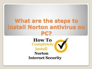 What are the steps to install Norton antivirus on PC