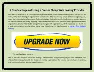 7 Disadvantages of Using a Free or Cheap Web hosting Provider