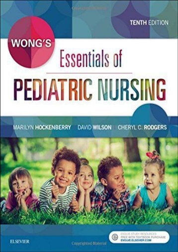 PDF Wong s Essentials of Pediatric Nursing, 10e - All Ebook Downloads