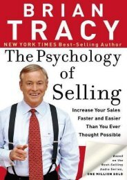 PDF The Psychology of Selling: Increase Your Sales Faster and Easier Than You Ever Thought Possible - All Ebook Downloads