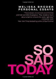 Online [PDF] So Sad Today: Personal Essays - All Ebook Downloads
