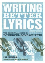 Read Online (PDF) Writing Better Lyrics - All Ebook Downloads