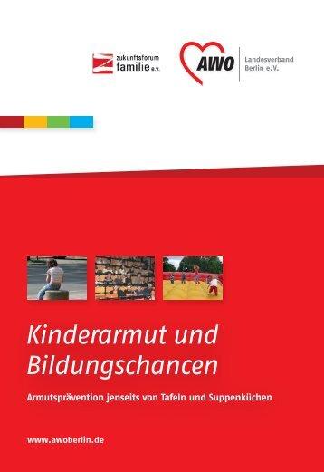 Kinderarmut und Bildungschancen - AWO Landesverband Berlin eV
