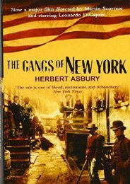PDF  The Gangs of New York Herbert Asbury For Kindle