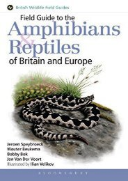 Read Online  Field Guide to the Amphibians and Reptiles of Britain and Europe (Helm Field Guides) Jeroen Speybroeck Pre Order