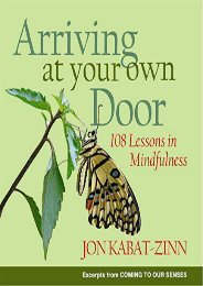 Download [PDF]  Arriving at Your Own Door: 108 Lessons in Mindfulness Jon Kabat-Zinn Trial Ebook