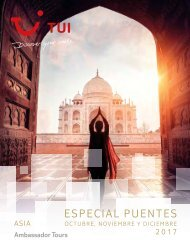 Catálogo TUI Viajes Puentes 2017