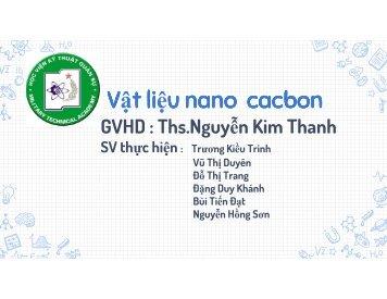 Vật liệu nano cacbon Trương Kiều Trinh Publisher